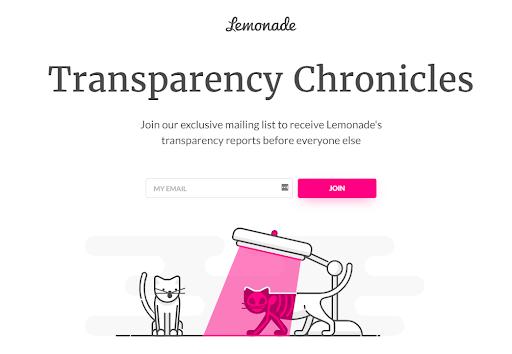 Lemonade Transprarency Chronicles