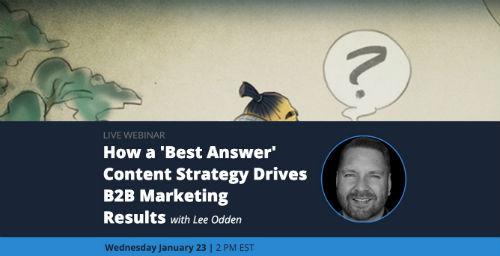 B2B best answer marketing webinar