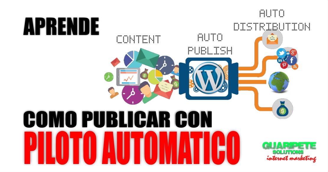 Como publicar automaticamente en Blog y Redes Sociales