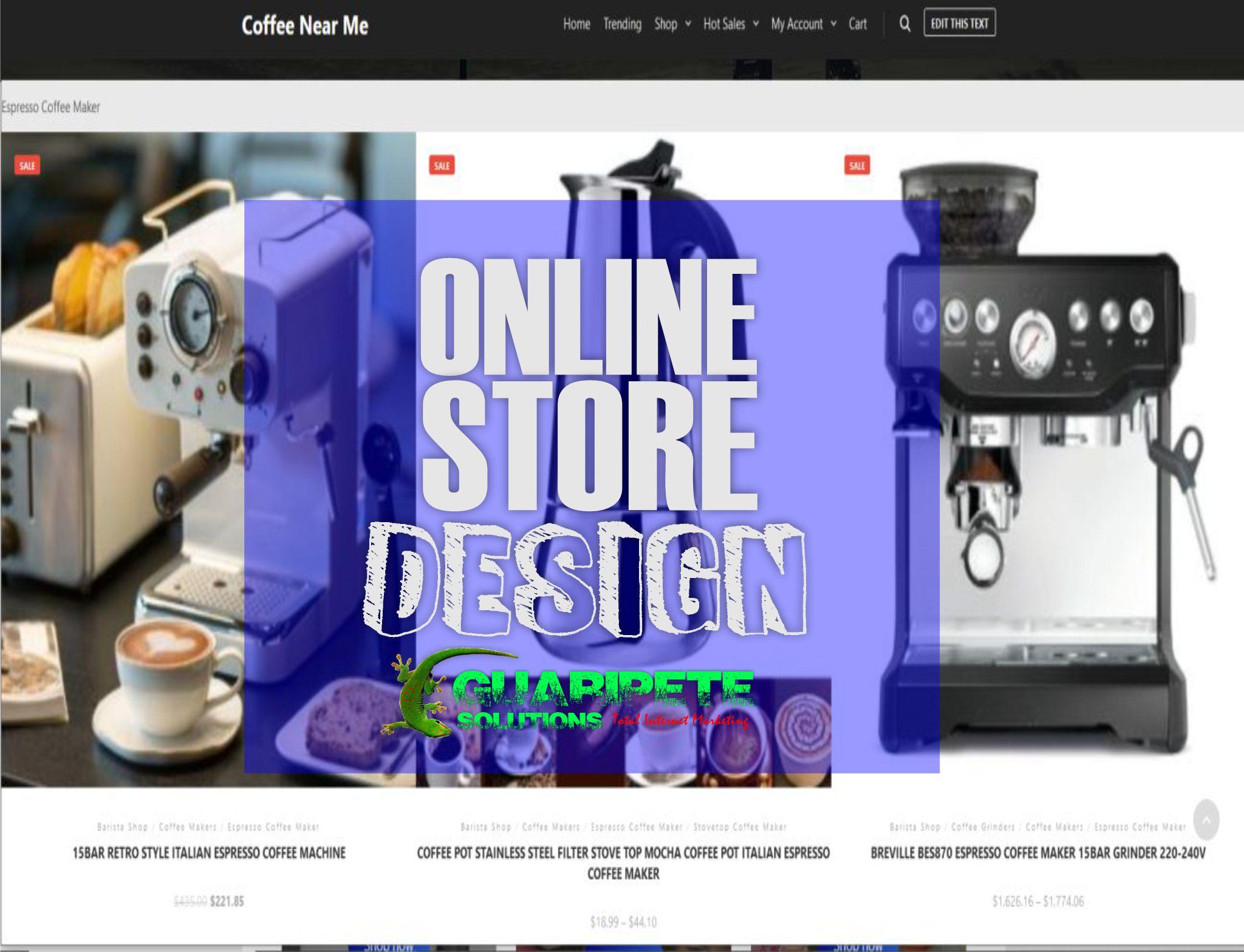 Online Store Design Coffee Secrets