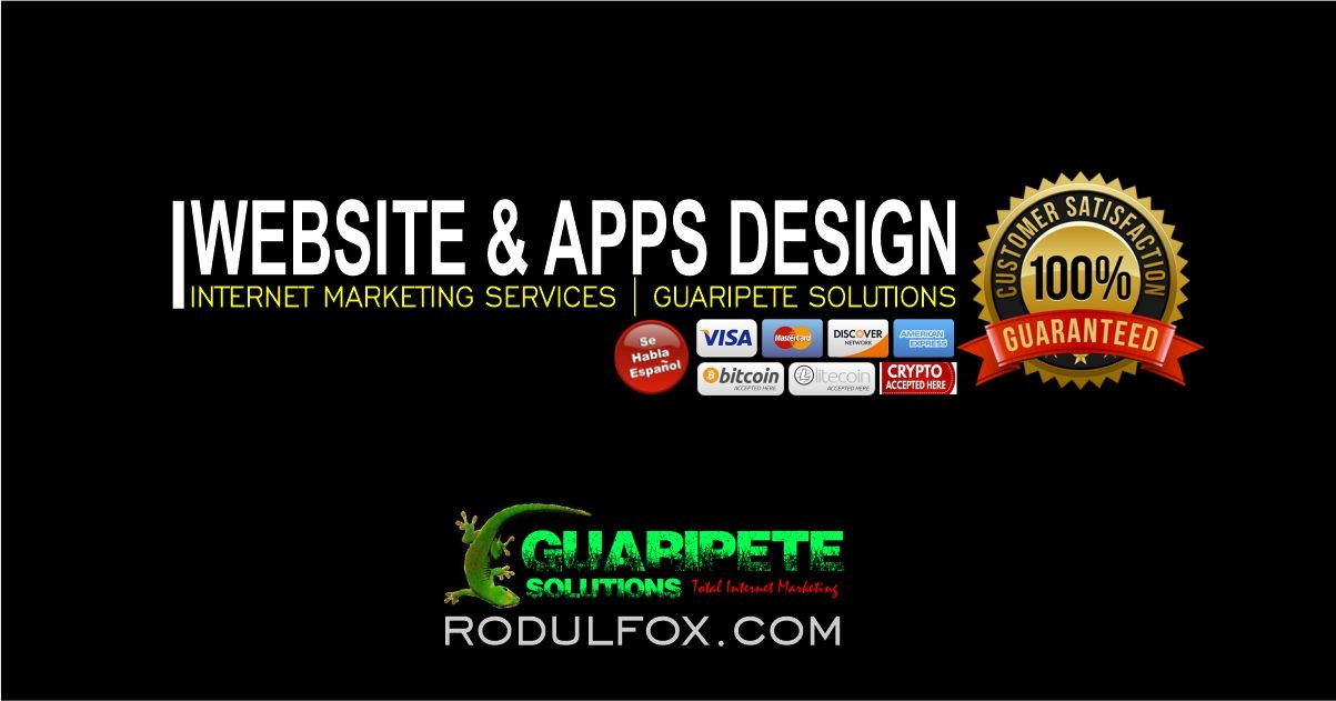 Website and Apps Design Services by Guaripete Solutions