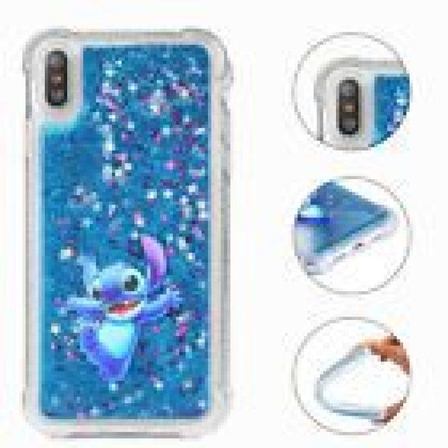 Cute Disney Liquid Quicksand Cover Phone Case For iPhone Xs Max XR 5s 6 7 8 Plus