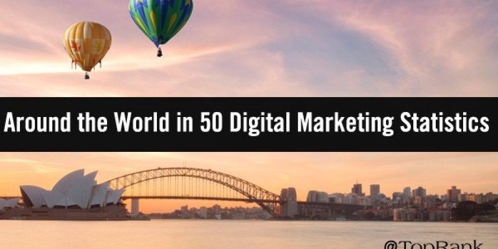 Around the World in 50 Captivating Digital Marketing Statistics