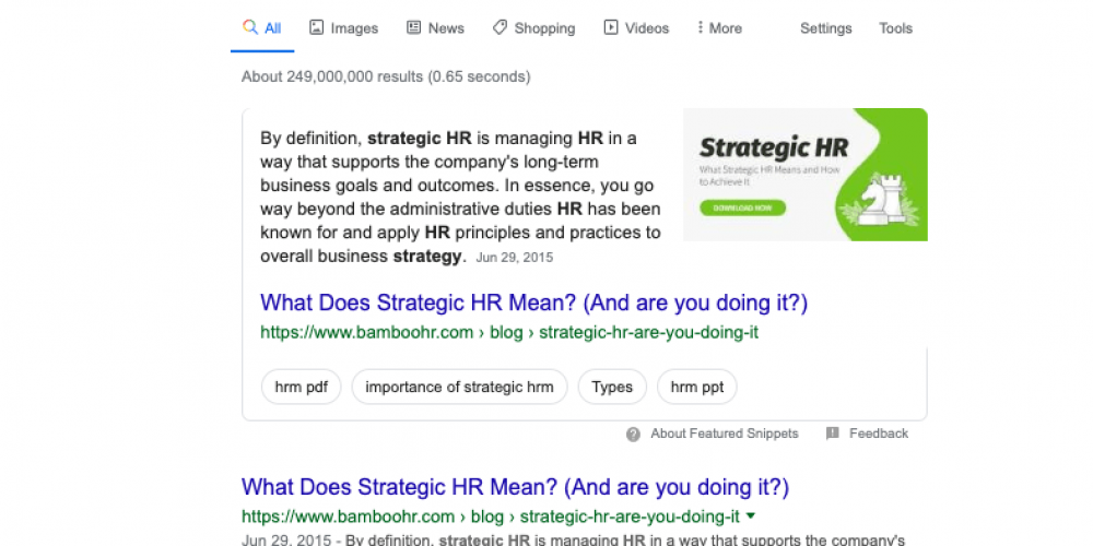 """The Power of """"Is"""": A Featured Snippet Case Study"""