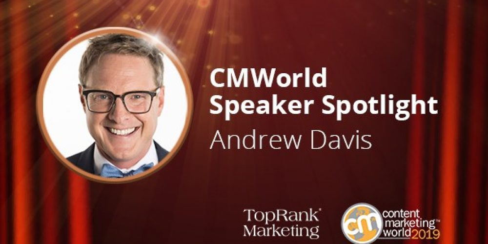 #CMWorld 2019 Interview: Andrew Davis on Showing, Not Telling