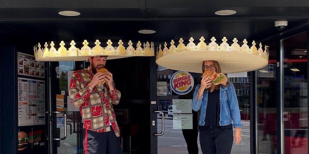 Burger King lanza una corona gigante para mantener la distancia social