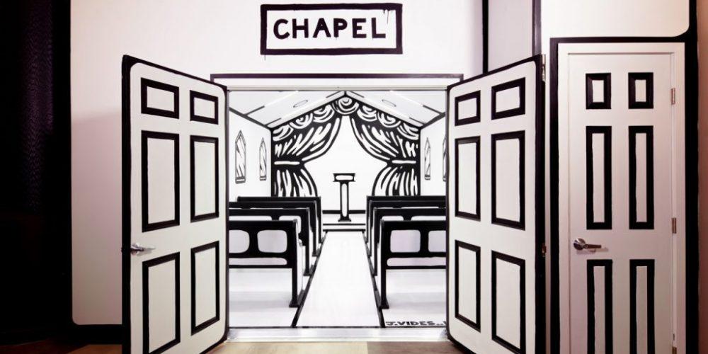 Esta iglesia de Las Vegas parece sacada de un boceto y realmente te puedes casar en ella