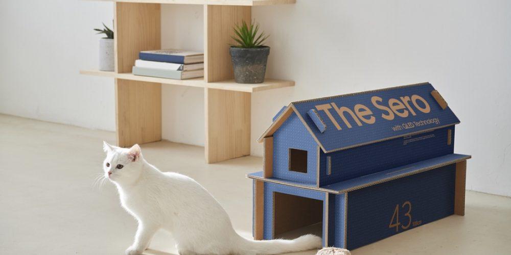 Samsung lanza unas cajas de cartón para sus televisores que se transforman en muebles para casa