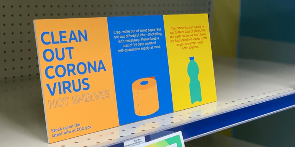 Esta campaña convierte las estanterías vacías de los supermercados en soporte publicitario para promover la compra responsable