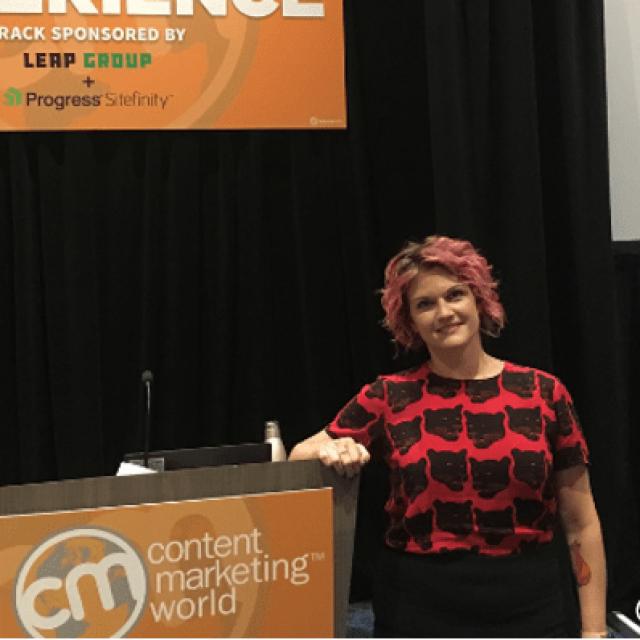 April Henderson on Data-Driven, Empathetic B2B Content #CMWorld