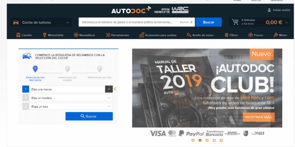 Autodoc, tienda online de respuestos para autos