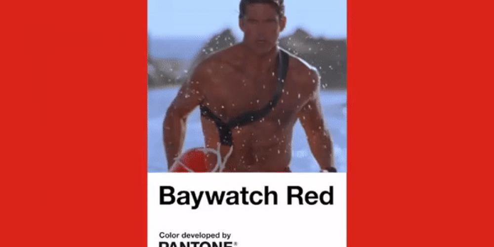 """Pantone lanza el color """"Rojo Vigilantes de la Playa"""" para celebrar el 30 aniversario la serie"""