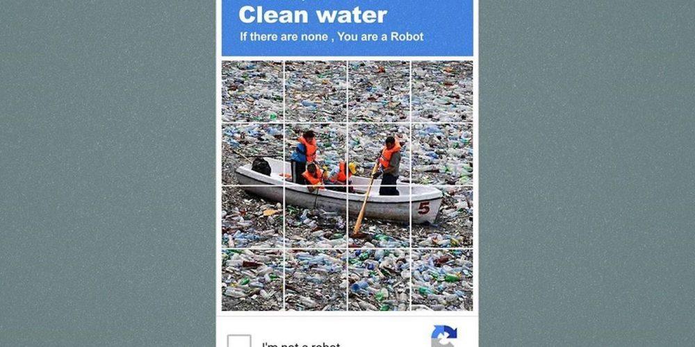Captchas convertidos en soporte para concienciar sobre la contaminación
