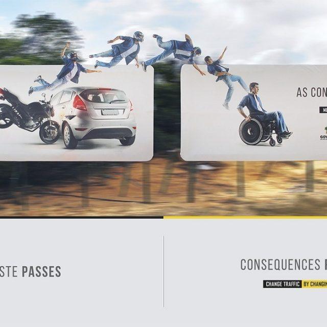 Estas impactantes vallas publicitarias muestran las consecuencias de los accidentes de tráfico