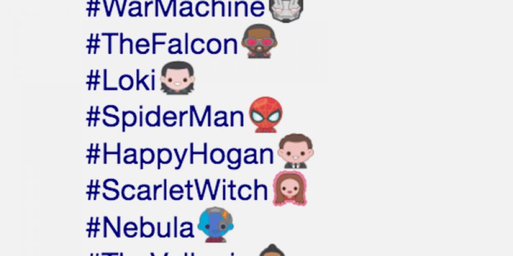 """Twitter lanza una colección de 40 emojis con los personajes de """"Avengers: Endgame"""""""