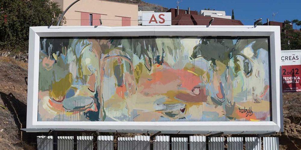 #CREAS2020, una ruta de arte urbano efímero sobre vallas publicitarias