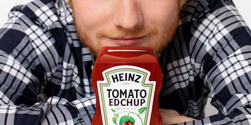 Así es como un mensaje de Ed Sheeran se convirtió en un anuncio de ketchup Heinz