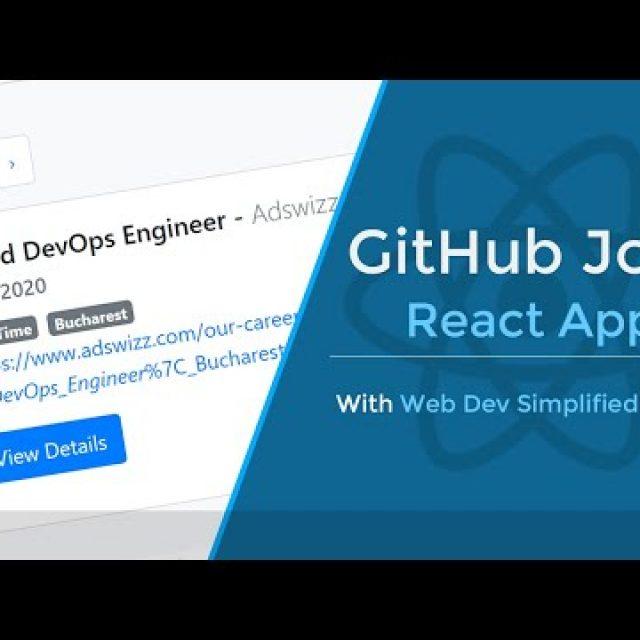 Build a GitHub Jobs App With React Hooks