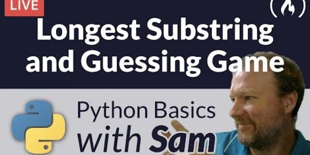 Find Longest Substring / Guessing Game – Python Basics with Sam