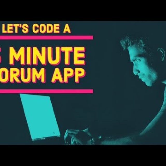 Let's code a Forum App in 5 minutes – HTML, CSS, JavaScript tutorial