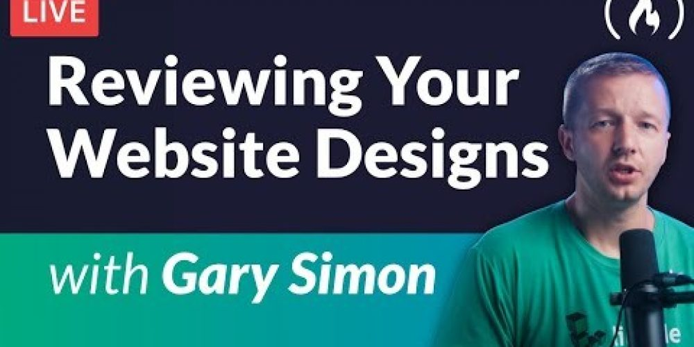 Reviewing Your Website Designs Live – with Gary Simon