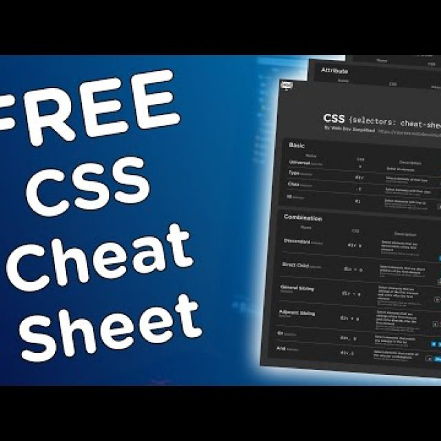 FREE CSS Selector Cheat Sheet + Bonus Cheat Sheet!