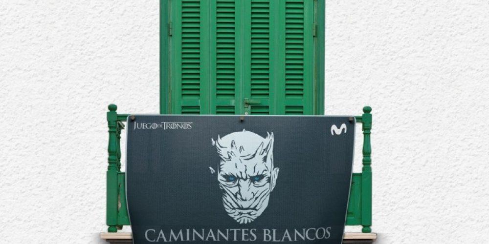 Juego de Balcones: Movistar convierte los balcones en soporte publicitario para promocionar 'Juego de Tronos'