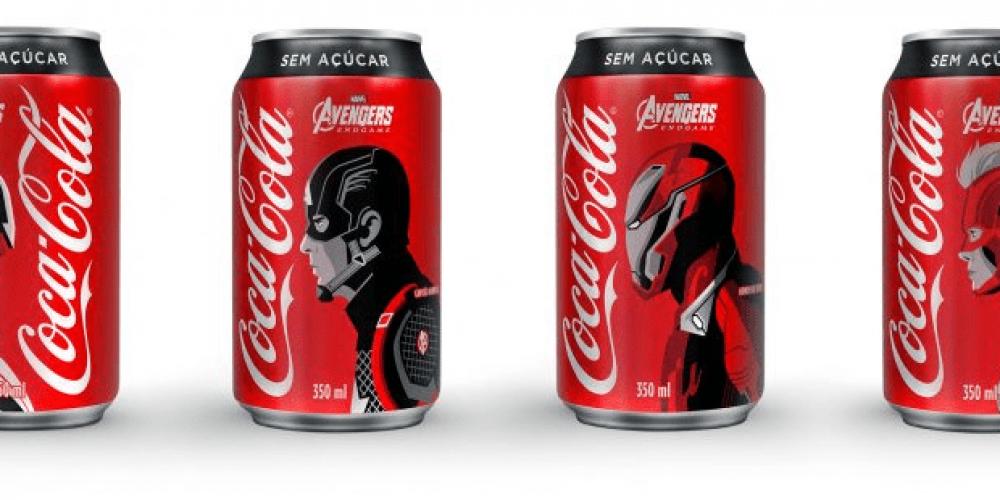 """Los personajes de """"Avengers: Endgame"""" protagonizan esta edición limitada de Coca-Cola"""