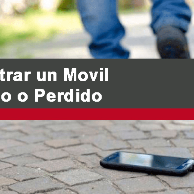 Localizar el móvil facilmente en caso de perdida o robo