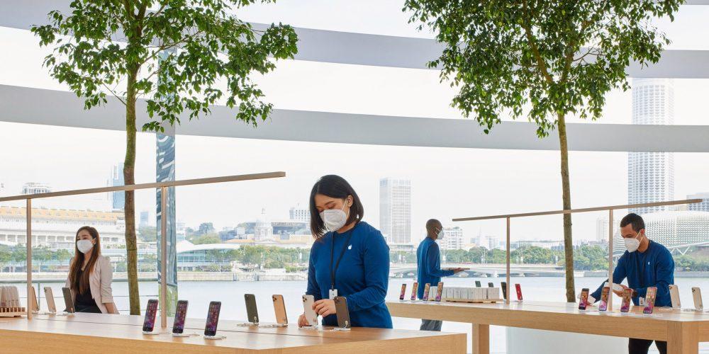 Así es la nueva tienda esférica y «flotante» que Apple ha abierto en Singapur