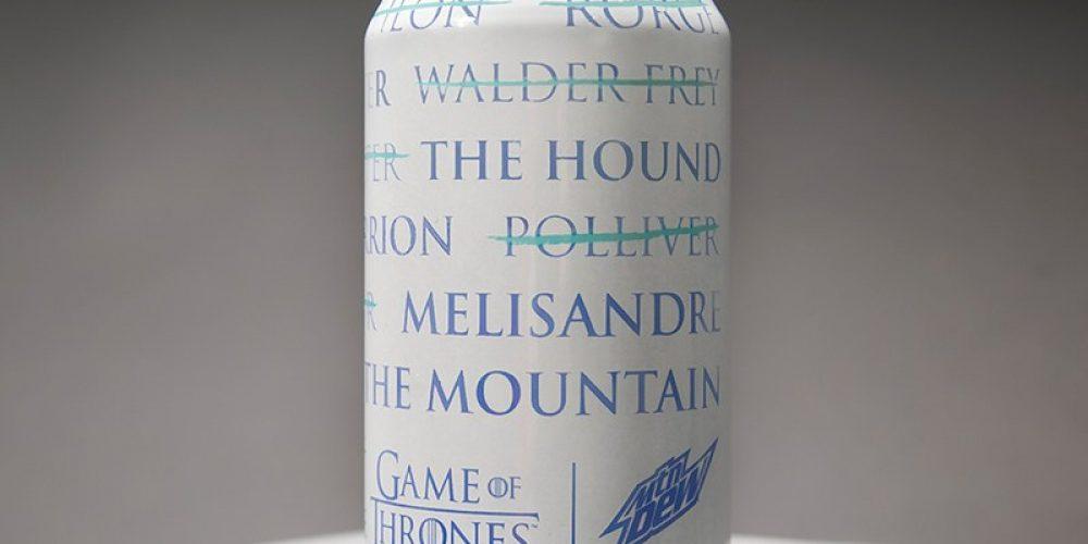 """Mountain Dew lanza una lata que muestra las muertes de """"Juego de Tronos"""" cuando se enfría"""