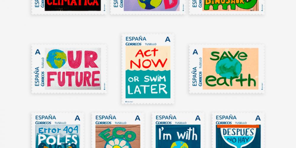 Protest stamps: una colección de sellos para luchar contra el cambio climático