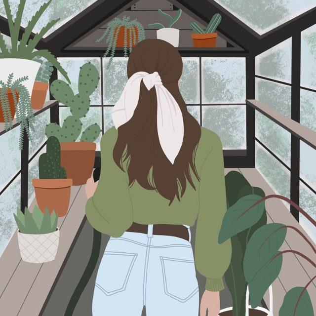 Esta diseñadora australiana ilustra su obsesión con las plantas