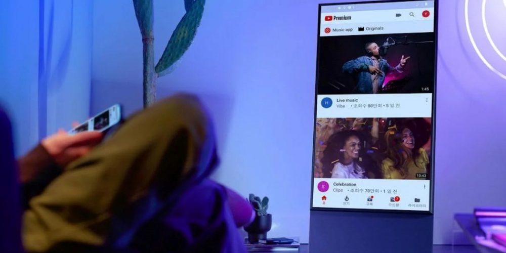 The Sero, el televisor de Samsung que se gira para poder ver vídeos verticales