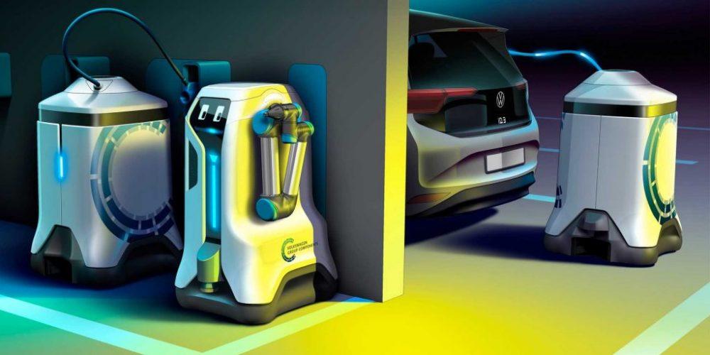 Los robots podrían ser la solución para las estaciones de carga EV según Volkswagen