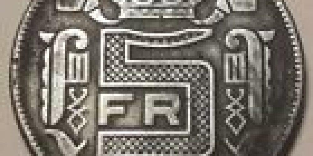5 Francs 1941 RAU Leopold III 5 Frank NL  SUP Belgique Belgïe
