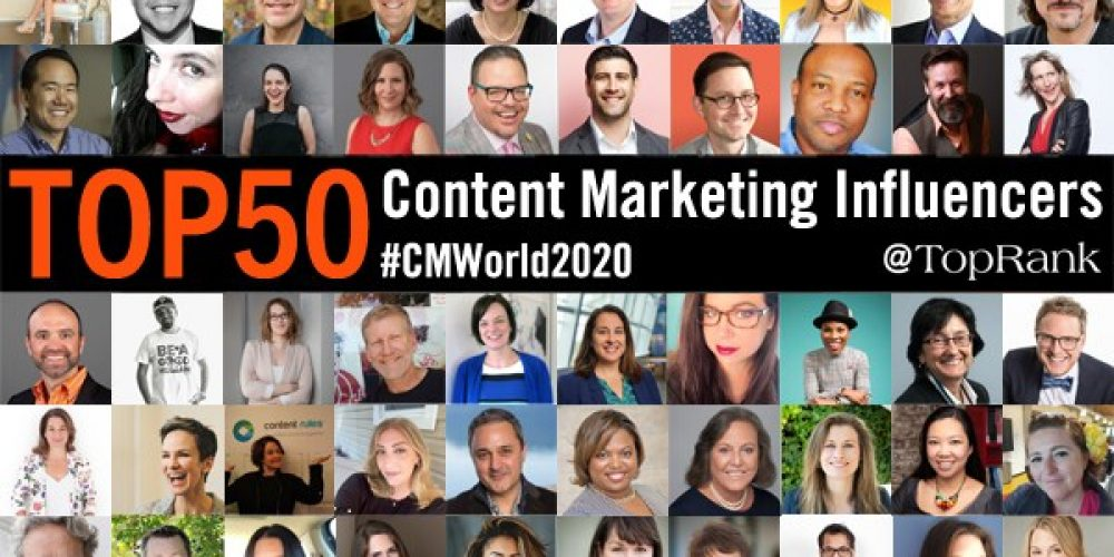50 Top B2B Content Marketing Influencers To Follow in 2021 #CMWorld