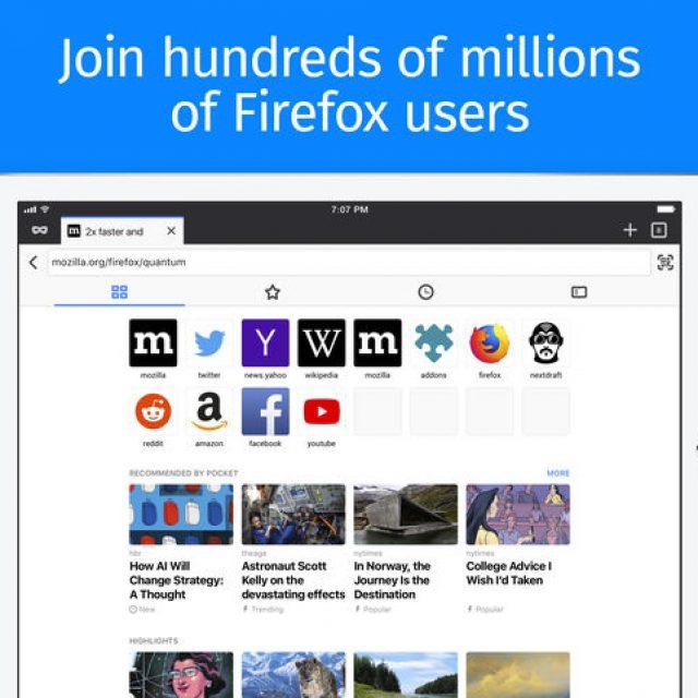 Mozilla lanza una nueva versión de Firefox optimizada para iPad