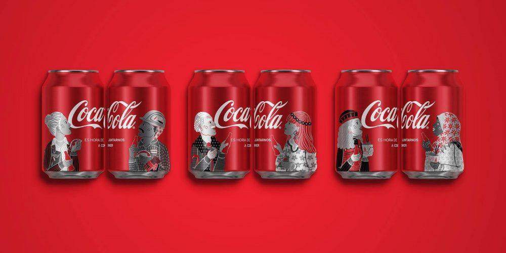 Coca-Cola rediseña sus latas y botellas para animarnos a comer juntos