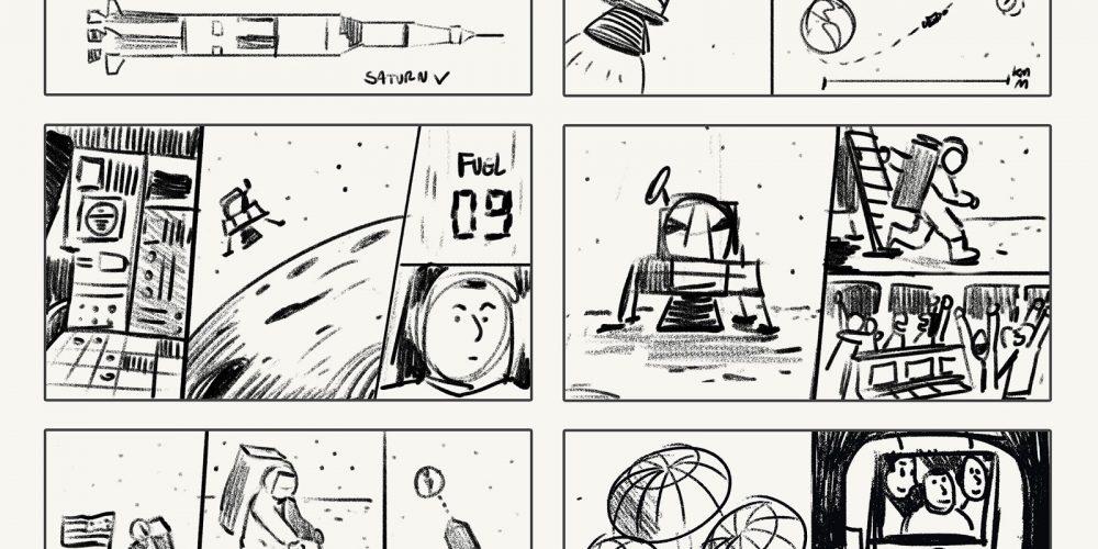 Así fue el doodle de Google para celebrar el 50 aniversario de la llegada del hombre a la Luna
