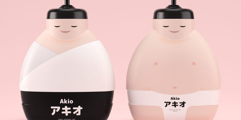 Este divertido packaging de jabón viene con un kimono extraíble para que los niños puedan jugar con él
