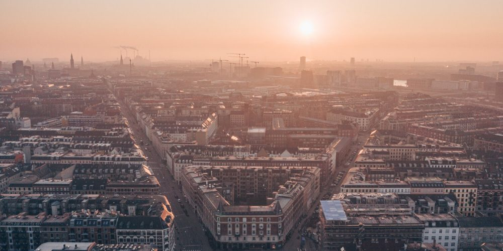 Copenhague desde el aire durante la cuarentena