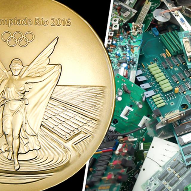 Reutilizaran basura electrónica para las medallas de Tokio 2020