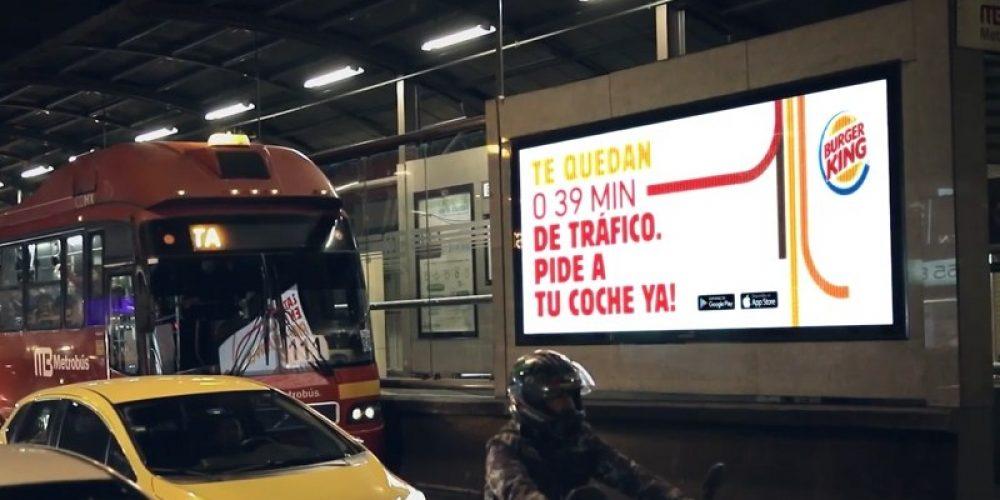 Burger King se propone llevar comida a los conductores atrapados en atascos