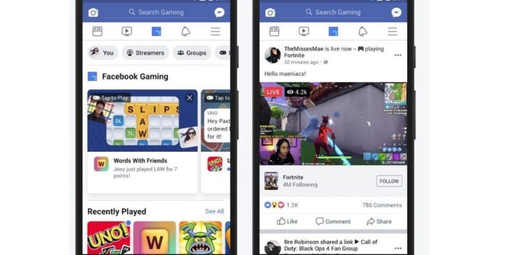 Facebook añade una nueva pestaña para juegos