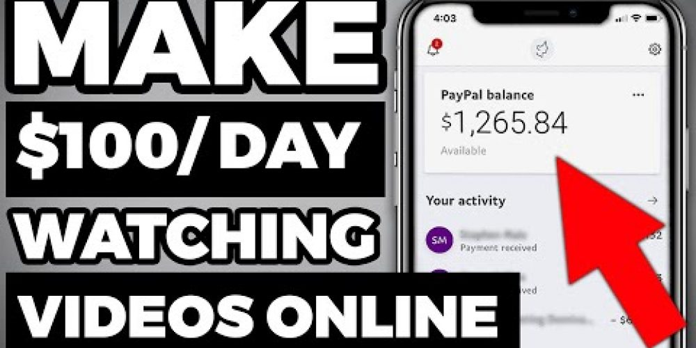 Earn $100 in 24 HOURS Watching Videos (How to Make Money Online)