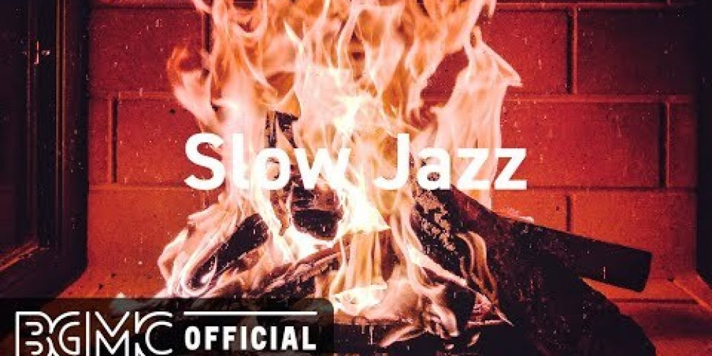 Slow Jazz: Relax Winter Jazz Cafe Piano with Fireplace Sounds for Warm Mood