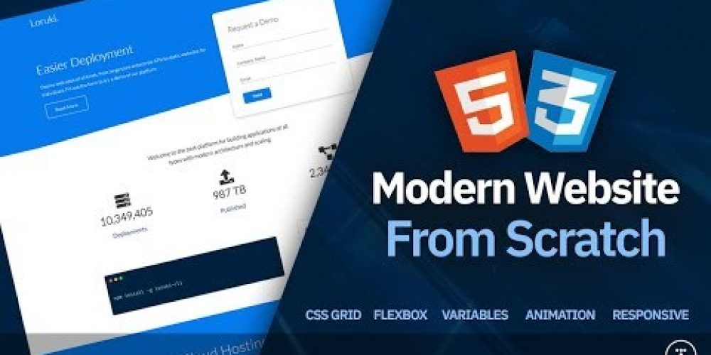 Build a Responsive Website | HTML, CSS Grid, Flexbox & More