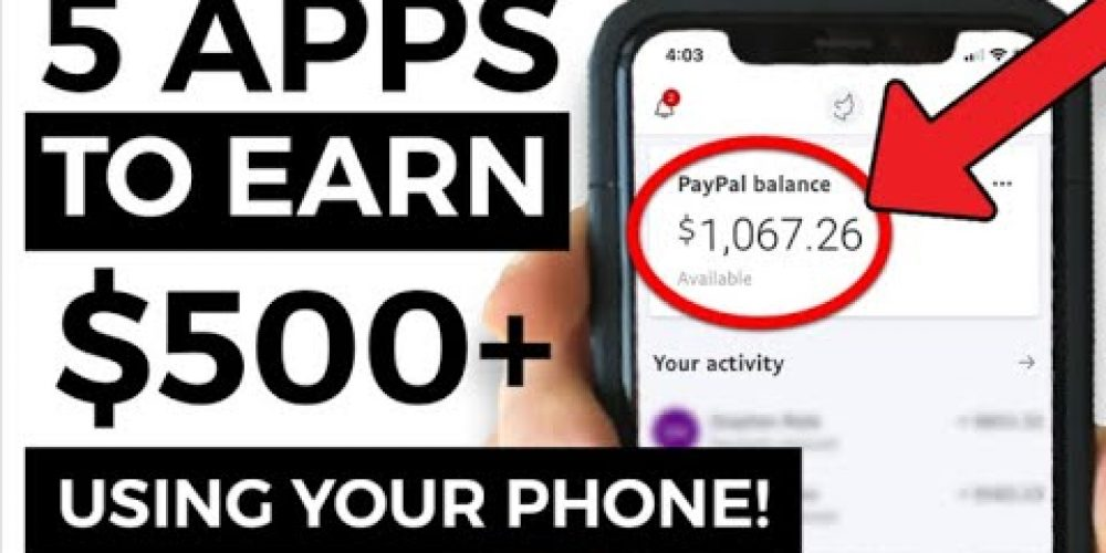 5 BEST Money Making Apps Using ONLY a Phone (2020)