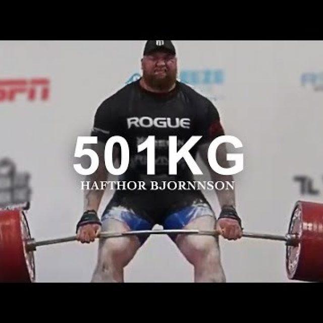 Hafthor Bjornsson Most Inspiring Video – 501kg Deadlift